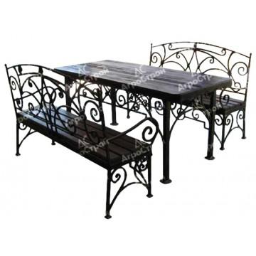 «Валенсия» (стол+ 2 скамьи)