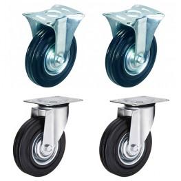 Комплект колёс (2 поворот. + 2 неповорот.)
